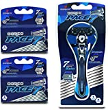 Dorco Pace 7 – World's First and Only Seven Blade Razor System- Value Pack (10 Cartridges + 1 Handle)