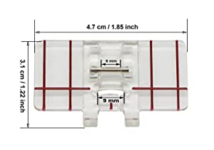 Stormshopping Top-Load Border Guide Presser Foot for Brother Singer Janome Babylock and More Low Shank Domestic Sewing Machines (Tamaño: Border Guide Foot)