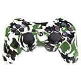 PS3 Controller Wireless Gamepad 6 Axis Dualshock 3 Game Remote Control Joystick for PlayStation 3 with Charging Cable (Army Green Camo) (Color: Army Green Camo)