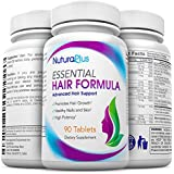 NuturaPlus Advanced Hair Growth Vitamins with Biotin (90 Tablets) - Clinical Strength to Combat Hair Loss - Safe Hair Treatment Supplement for Men & Women - Repairs, Strengthens & Fortifies