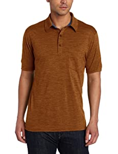 Ibex Outdoor Clothing Men's OD Polo Shirt, Tabasco Heather, X-Large