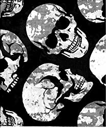Multifunction Neckwarmer, Snood, Hat, Scarf and Hood with Large skulls print by Monogram