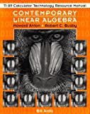 img - for Contemporary Linear Algebra, TI-89 Calculator Technology Resource Manual book / textbook / text book