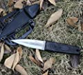 Coleman Fixed Blade Hunting Knife, Double Edge Blade Outdoor Hunting and Camping Knife with Plastic Sheath, 7.6 Inch Overall - CM2007