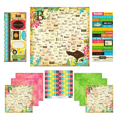 Scrapbook Customs Themed Paper and Stickers Scrapbook Kit, Bali Paradise - 1