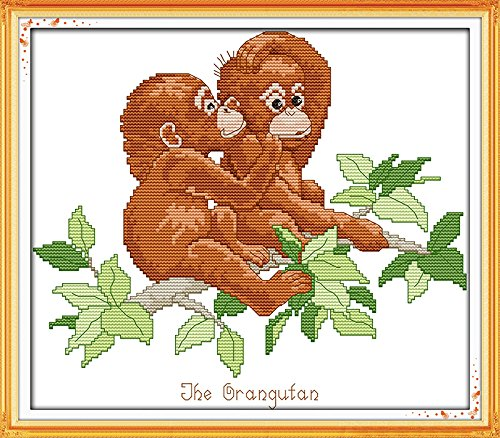 Happy Forever Cross Stitch Animals, orangutan