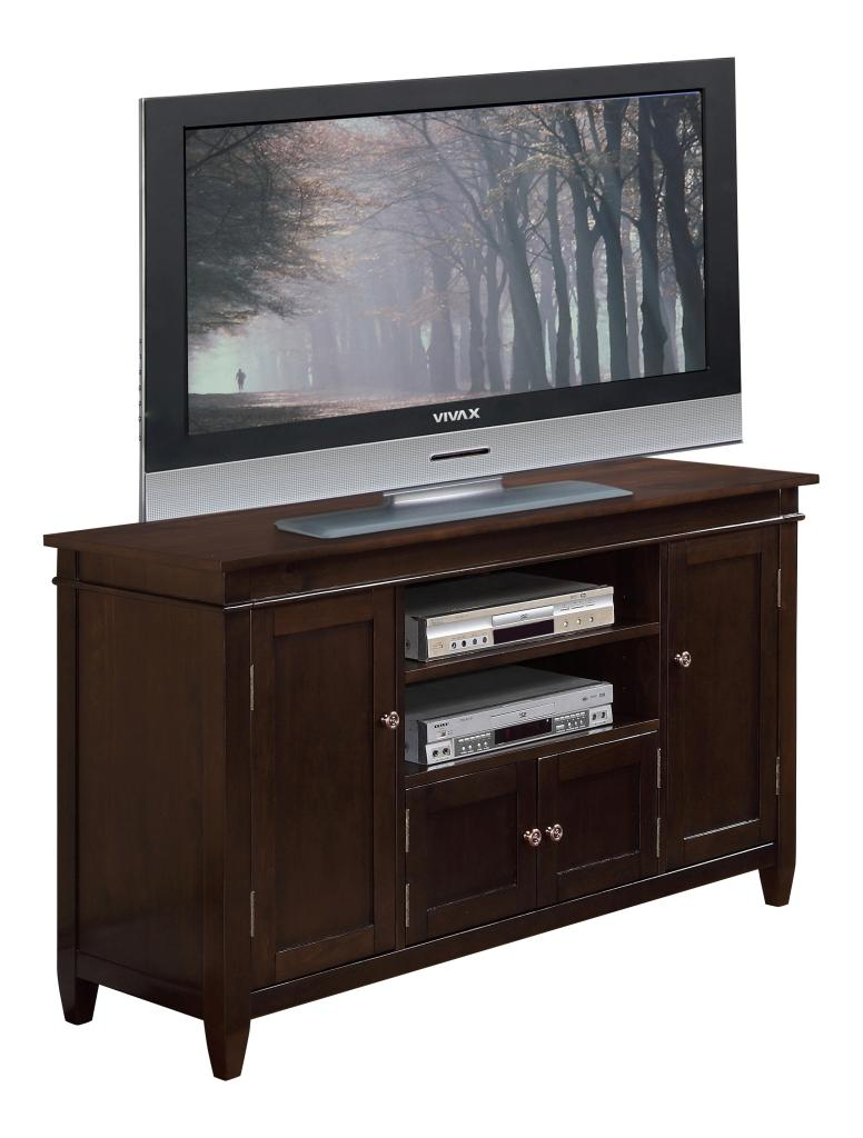 "30 Inch Brown Bathroom Vanity Set With White Carrera: Simpli Home Carlton TV Media Stand, 54"" X 30"