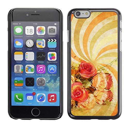 LASTONE PHONE CASE / Premio Sottile Slim Cassa Custodia Case Bandiera Cover Shell per Apple Iphone 6 / Wallpaper Spiral Hypnotic Psychedelic Art Flowers