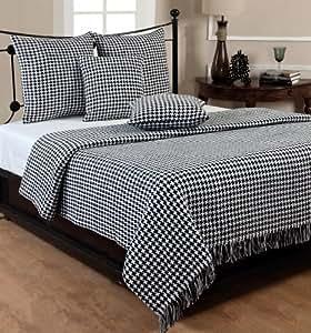 homescapes handgewobene tagesdecke schwarz wei. Black Bedroom Furniture Sets. Home Design Ideas