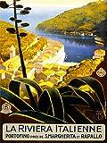 TRAVEL TOURISM ITALIAN RIVIERA PORTOFINO TOWN SEA LAKE HILL CHURCH ITALY 30X40 CMS FINE ART PRINT ART POSTER BB9898