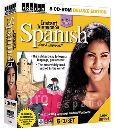 Instant Immersion Spanish 5 CD-ROM SetB00006ILUV : image