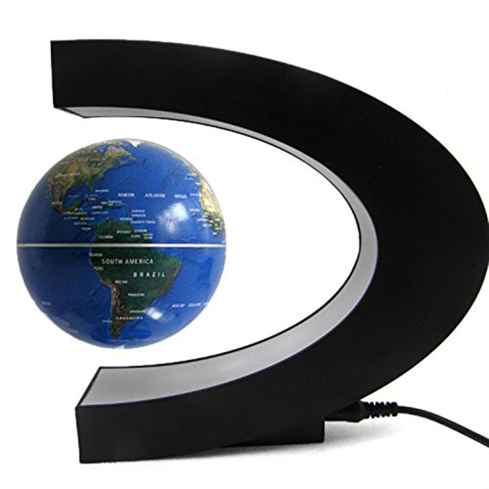 Dark Blue New Gift Idea Earth Globe Magnetic Led Light Scientists Desk Decor New