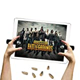 EEkiiqi Mobile Game Trigger Tablet Pad Game Controller Shoot and Aim Trigger Fire Buttons Compatible with PUBG Mobile Controller Fortnite/Knives Out/Rules of Survival for i-Pad Tablet (Color: Black, Tamaño: m)