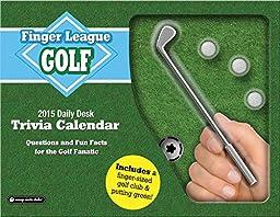 Orange Circle Studio 2015 Finger League Daily Desk Calendar, Golf (11536)