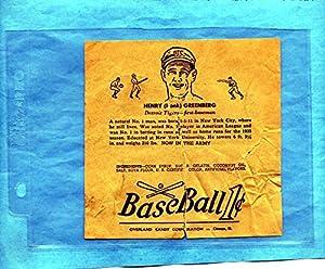 Buy 1938 R301 Overland Candy Basebal Wrapper Hank Greenberg by Dan's Vintage Cards