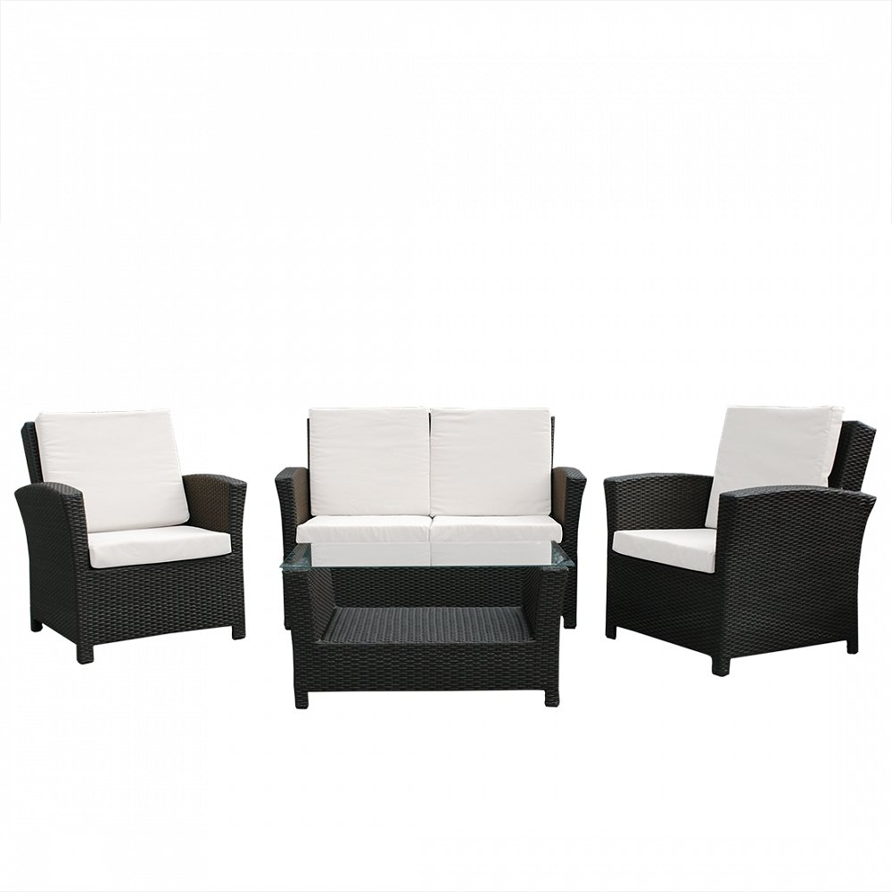 rattan gartenlounge rattanm bel 13 teile polyrattan. Black Bedroom Furniture Sets. Home Design Ideas