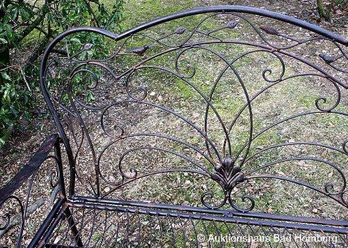 nostalgische gartenbank vogel metall bank nostalgie antik stil v gel. Black Bedroom Furniture Sets. Home Design Ideas
