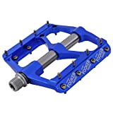 FOOKER MTB Bike Pedals Mountain Non-Slip Bike Pedals Platform Bicycle Flat Alloy Pedals 9/16