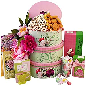 Art of Appreciation Gift Baskets Fanciful Flavors Gourmet Tea and Snacks Tower