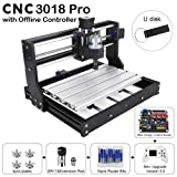 CNC 3018 Pro Engraving Machine, XYZ Working Area 11.8x7.1x1.8inch, GRBL PCB PVC Wood Router CNC 3 Axis Milling Machine with Offline Controller (CNC 3018 Pro Upgraded New Version) (Tamaño: Extra Large)