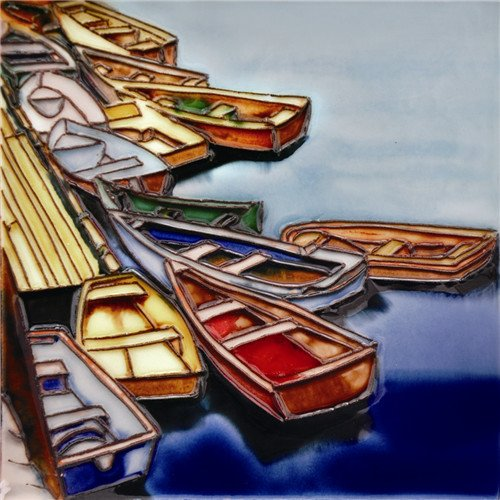 Boat Way - Decorative Ceramic Art Tile - 6