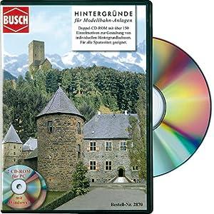 Busch 2870 – CD-ROM Hintergründe für Modellbahnanlagen