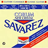 Savarez 500CRJ Corum Cristal Classical Guitar Strings, High Tension, Red/Blue Card