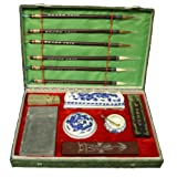 Large Chinese Brush and Ink Calligraphy Set (Color: Red)