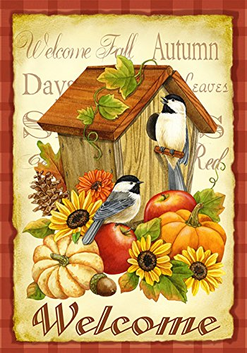 toland-home-garden-herbst-vogel-orange