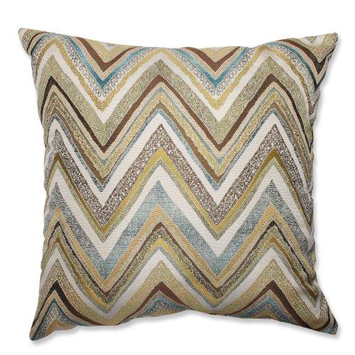 Pillow Perfect Zig Zag Capri Floor Pillow, 24.5-Inch, Blue