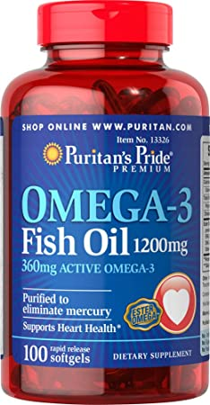 Omega 3 fish oil 1200 mg 100 Softgels 13326