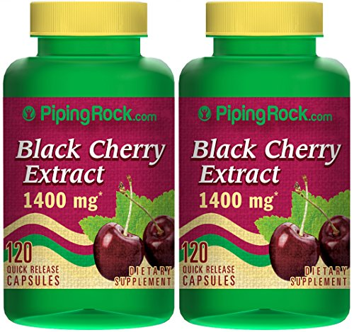 Black Cherry 1400 mg 2 Bottles x 120 Capsules (Now Black Cherry Extract compare prices)