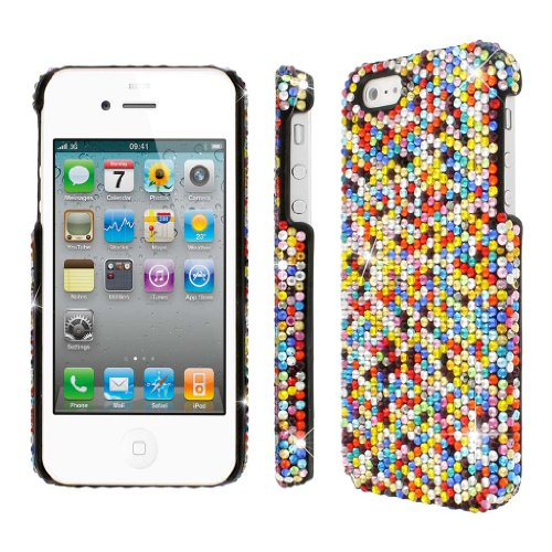 Special Sale MPERO Collection Diamante Bling Multi Color Case for Apple iPhone 5