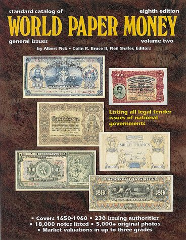 World banknotes and paper money catalogs, books, references