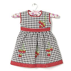CHILDHOOD Stiched Baby Girls Cotton frocks (F-30-16_White)