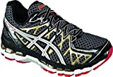 ASICS Mens Gel Kayano 20 Running Shoe,Black/White/Gold,8 M US