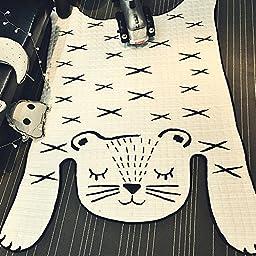 Leopard Print Rug Kids Bedroom Area Tiger Rug Child Floor Area Kids Leopard Print Carpet 130x185 CM