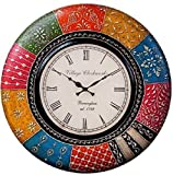RoyalsCart Village Clockworks Boistrous Colors Analog Wall Clock