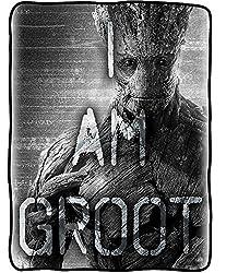 Marvel Guardians of the Galaxy Fleece Throw Blanket (I Am Groot)