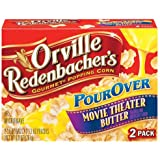 Orville Redenbacher's Gourmet Microwave Popcorn, Pour-Over, Movie Theater Butter, 2-Count (Pack of 6)