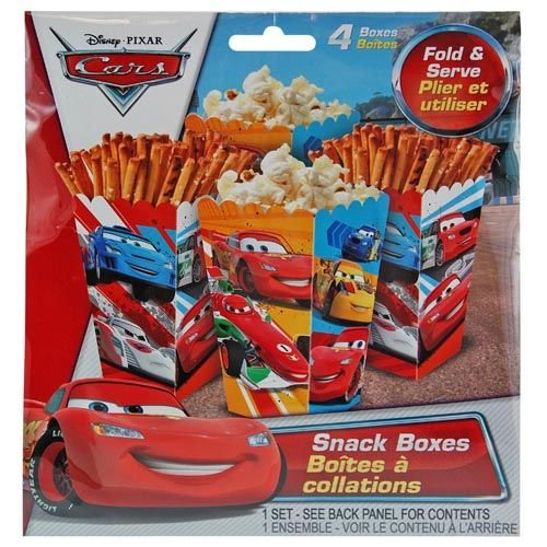 Disney Cars 4pk Paper Snack Boxes