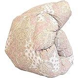 昭和西川 日本製 羽毛布団 シングル 150×210cm ハンガリー産ホワイトダウン90% 474柄 ピンク