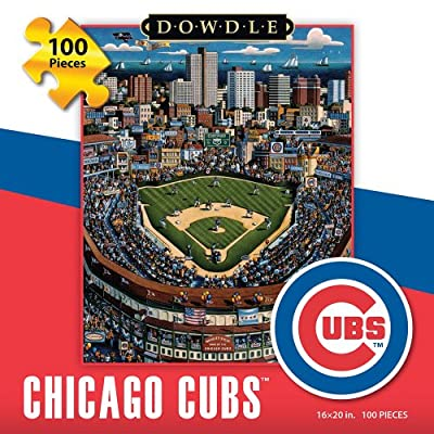 Jigsaw Puzzle - Chicago Cubs 100 Pc By Dowdle Folk Art