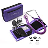 Aneroid Sphygmomanometer and Dual Head Stethoscope, LotFancy Manual Blood Pressure Monitor, Adult Cuff (10-16)