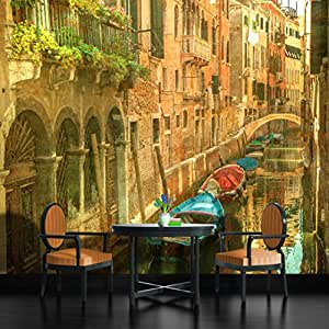 Vintage venice canal italy wallpaper mural for Amazon mural wallpaper