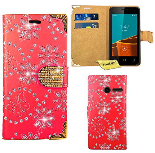 vodafone-smart-first-6-case-foneexpertr-bling-luxury-diamond-leather-wallet-book-kickstand-bag-case-