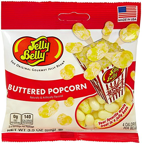 Jelly Belly Single Flavor Beans - Buttered Popcorn - 3.5 oz. - 12 Pack (Jellybelly Popcorn compare prices)