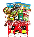 Holiday | Creative Kids Activity and Snacks Gift Basket for Children | Fun Gift Basket for Kids