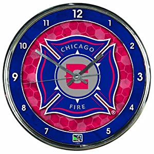 MLS Chicago Fire Chrome Clock by WinCraft
