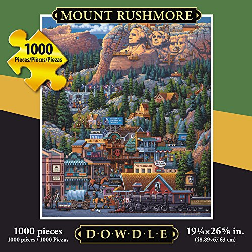 Jigsaw Puzzle - Mount Rushmore 1000 Pc By Dowdle Folk Art